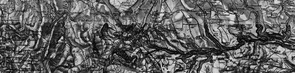 Old map of Buxton in 1896