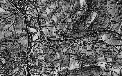 Old map of Buxworth in 1896
