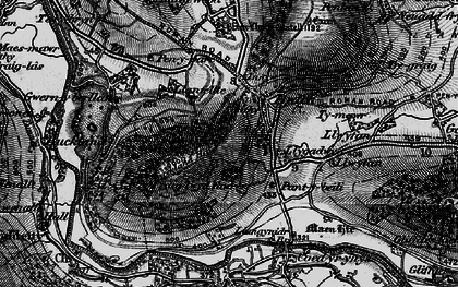 Old map of Bwlch in 1897