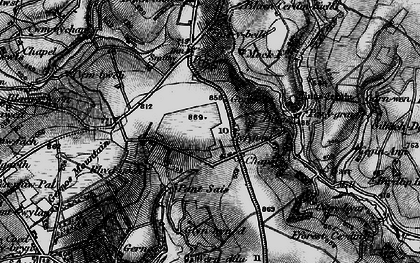 Old map of Bargoed in 1898