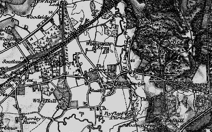 Old map of Byfleet in 1896