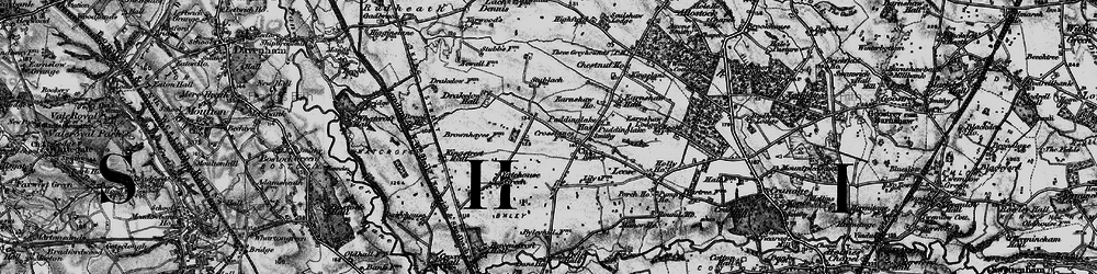 Old map of Yatehouse Green in 1896