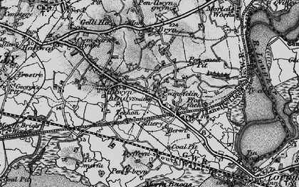 Old map of Bynea in 1897
