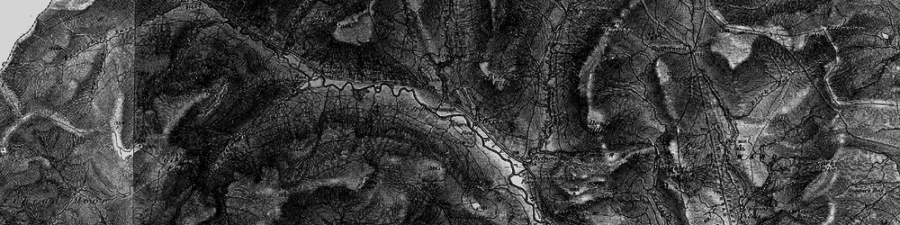 Old map of Windy Crag in 1897