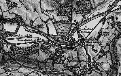 Old map of Bywell in 1898