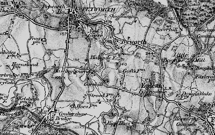 Old map of Byworth in 1895