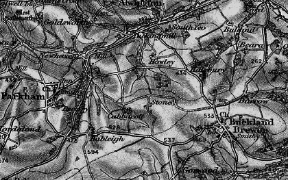 Old map of Babeleigh Barton in 1895