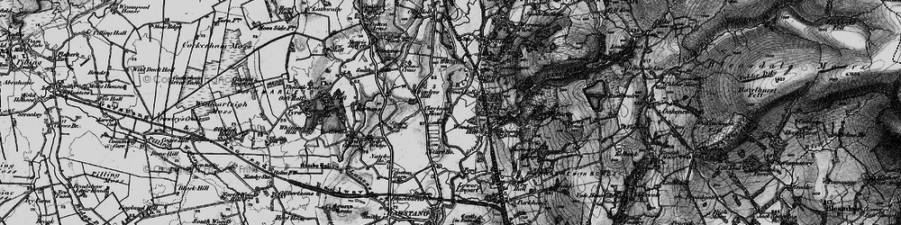 Old map of Woodacre Hall in 1896