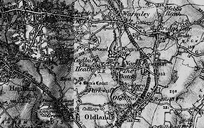 Old map of Cadbury Heath in 1898