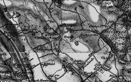Old map of Caddington in 1896
