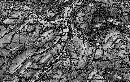 Old map of Cader in 1897