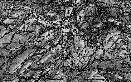 Old map of Tir Mostyn in 1897