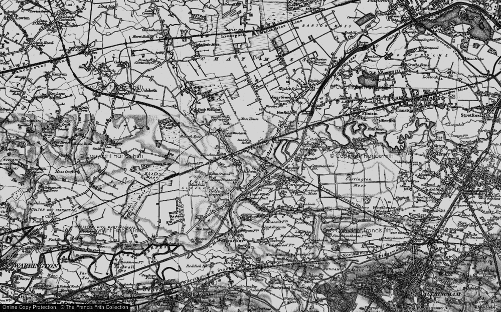 Old Map of Cadishead, 1896 in 1896