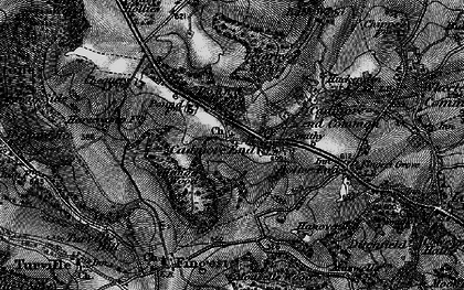 Old map of Leygrove's Wood in 1895