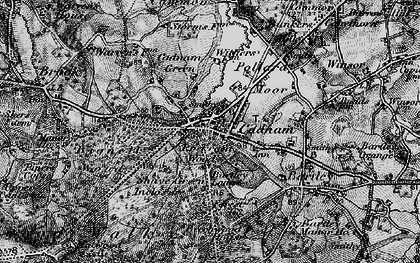Old map of Cadnam in 1895