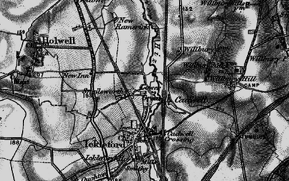 Old map of Cadwell in 1896