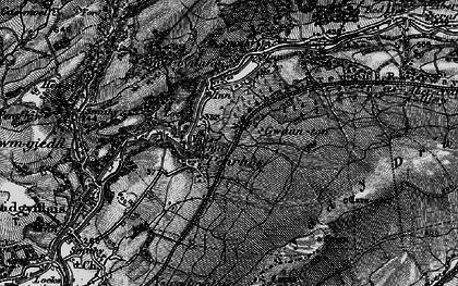 Old map of Cae'r-bont in 1898