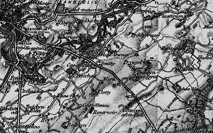 Old map of Ysbytty in 1899
