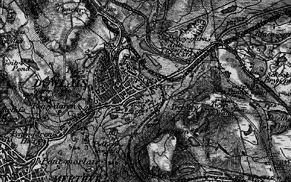 Old map of Caeharris in 1898