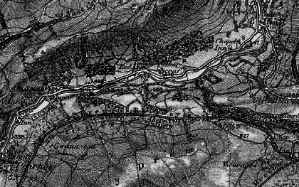 Old map of Caehopkin in 1898