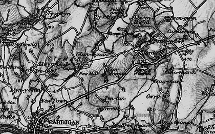 Old map of Banc-y-Warren in 1898