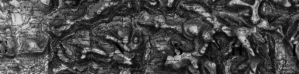Old map of Caerau in 1898