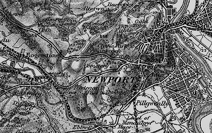 Old map of Caerau Park in 1897