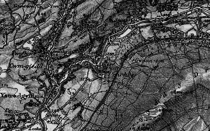 Old map of Caerbont in 1898