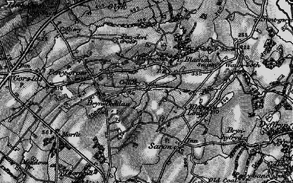 Old map of Caerbryn in 1897