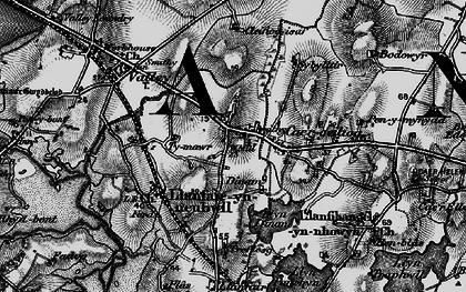 Old map of Ysbylldir in 1899