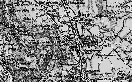 Old map of Caergwrle in 1897
