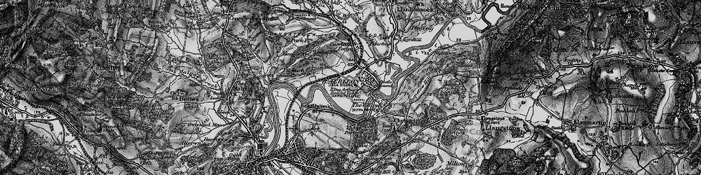 Old map of Caerleon in 1897