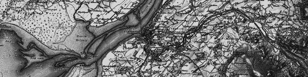 Old map of Caernarfon in 1899