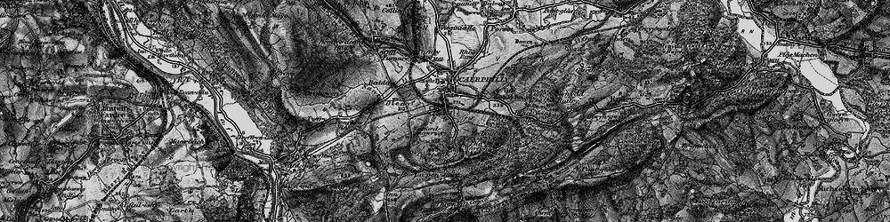 Old map of Caerphilly in 1897