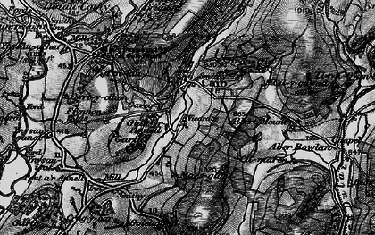 Old map of Banc Bronffin in 1898