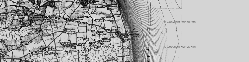 Old map of Caister-on-Sea in 1898