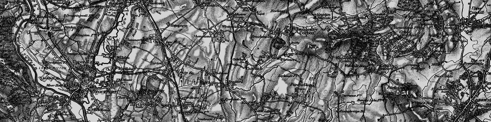 Old map of Winterfold Ho in 1898