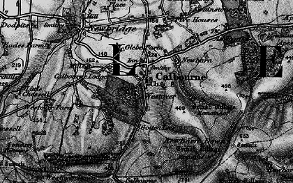 Old map of Westover Plantation in 1895