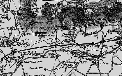 Old map of Calcot in 1895