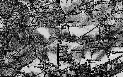 Old map of Wealden Forest Park in 1895