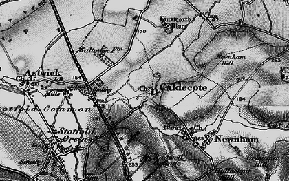 Old map of Caldecote in 1896