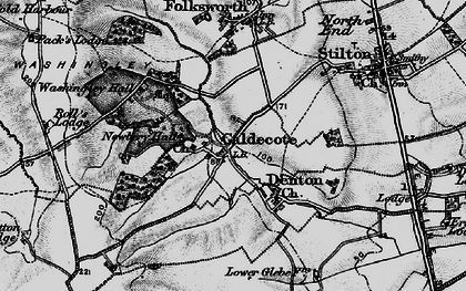 Old map of Caldecote in 1898
