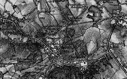 Old map of Caldecote Hill in 1896
