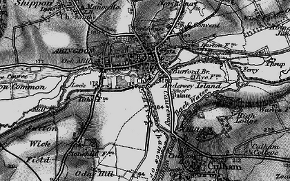 Old map of Abingdon Br in 1895