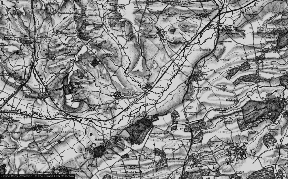 Old Map of Caldecott, 1898 in 1898