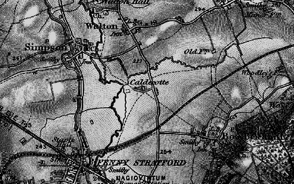 Old map of Caldecotte in 1896