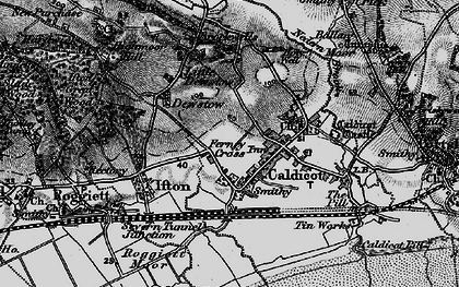 Old map of Caldicot in 1897