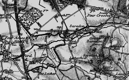 Old map of Latherford in 1898