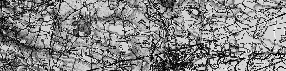 Old map of Callands in 1896