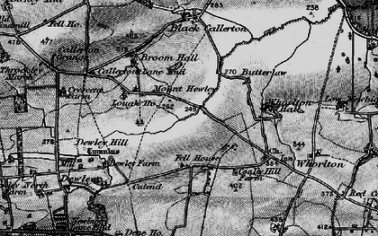 Old map of Whorlton Hall in 1897